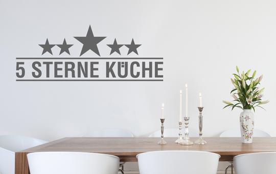 Wandkings wandtattoo chef 5 sterne kueche esszimmer koch for Koch 5 sterne