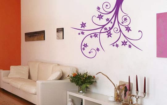 pin wandkings baum mit herzbl ttern wandtattoo farbe und gr e on pinterest. Black Bedroom Furniture Sets. Home Design Ideas