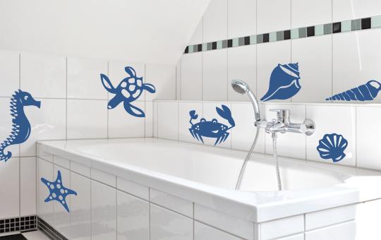 MARITIM Fliesenaufkleber Fliesen Fliesendekor Bad Küche