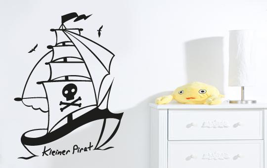 wandkings wandtattoo piratenschiff pirat schiff boot. Black Bedroom Furniture Sets. Home Design Ideas