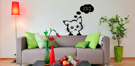 katzen wandtattoos im wandtattoo online shop. Black Bedroom Furniture Sets. Home Design Ideas