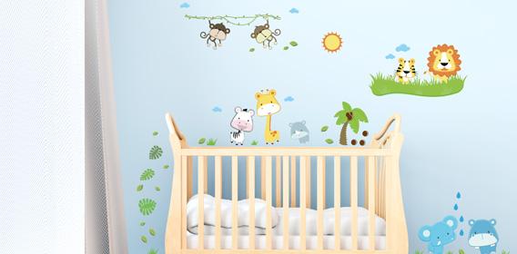 Wandsticker für die Kinderzimmer – bunt und schön