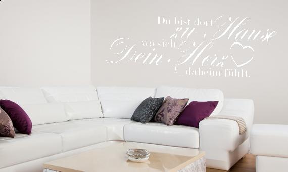 wandkings wandtattoo spruch du bist dort zu hause gr e farbe w hlbar. Black Bedroom Furniture Sets. Home Design Ideas
