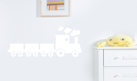 wandtattoo lokomotive eisenbahn wandsticker wandaufkleber wanddekoration ebay. Black Bedroom Furniture Sets. Home Design Ideas