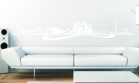 wandkings wandtattoo skyline aachen dreil ndereck gr e farbe w hlbar ebay. Black Bedroom Furniture Sets. Home Design Ideas