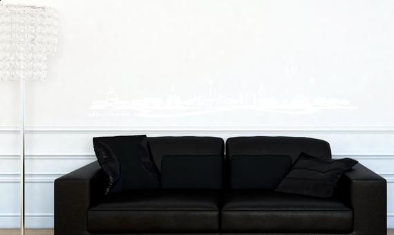 skyline bochum als wandtattoo wandaufkleber wanddeko. Black Bedroom Furniture Sets. Home Design Ideas