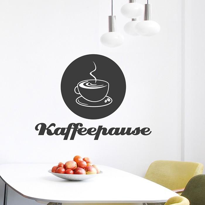Wandtattoo kaffeepause - Fliesensticker kaffee ...