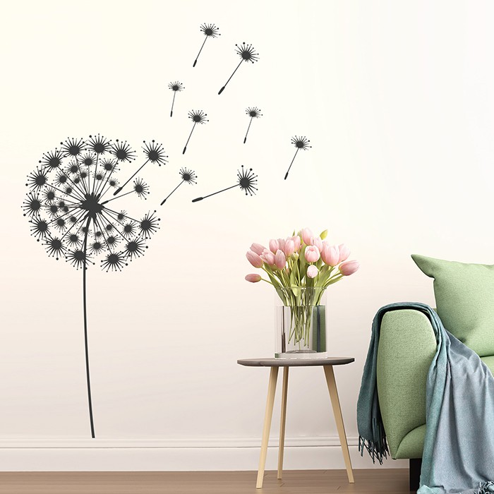 wandtattoo pusteblume ideal f rs wohnzimmer. Black Bedroom Furniture Sets. Home Design Ideas