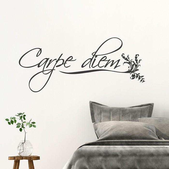 wandtattoo carpe diem. Black Bedroom Furniture Sets. Home Design Ideas