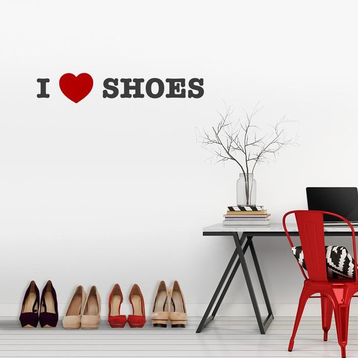 wandtattoo i love shoes. Black Bedroom Furniture Sets. Home Design Ideas