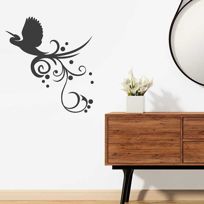 wandtattoo vogel mit ranke. Black Bedroom Furniture Sets. Home Design Ideas