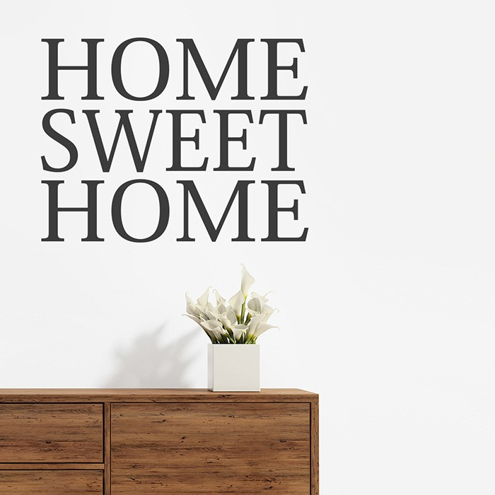 Wandtattoo home sweet home classic for Home sweet home arredamento