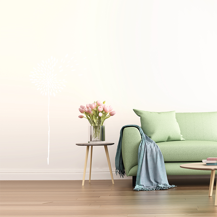 Wandtattoo pusteblume günstig : Wandtattoo gezeichnete pusteblume