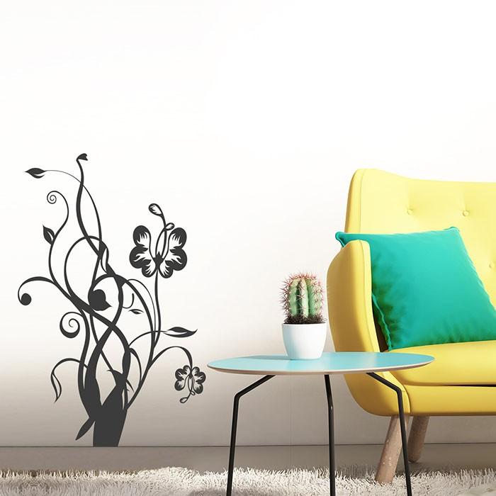 wandtattoo sch ne blumenranke. Black Bedroom Furniture Sets. Home Design Ideas
