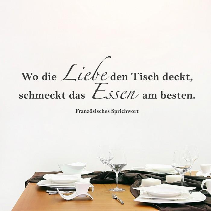 Wo Liebe Den Tisch Deckt Wandtattoo Spruch