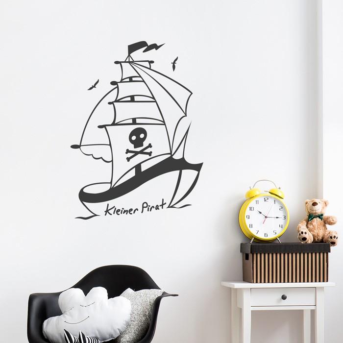 Wandtattoo kleines piratenschiff for Wandtattoo piratenschiff