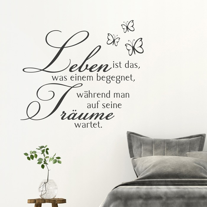 wandtattoo spruch leben ist das. Black Bedroom Furniture Sets. Home Design Ideas