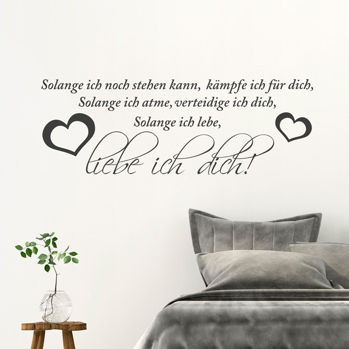 wandtattoo spruch solange ich noch stehen kann. Black Bedroom Furniture Sets. Home Design Ideas