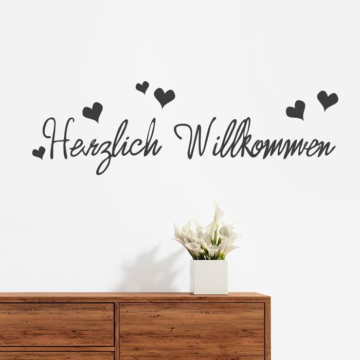Perfect Wandtattoo Spruch Herzlich Willkommen With Wandtattoo Flur