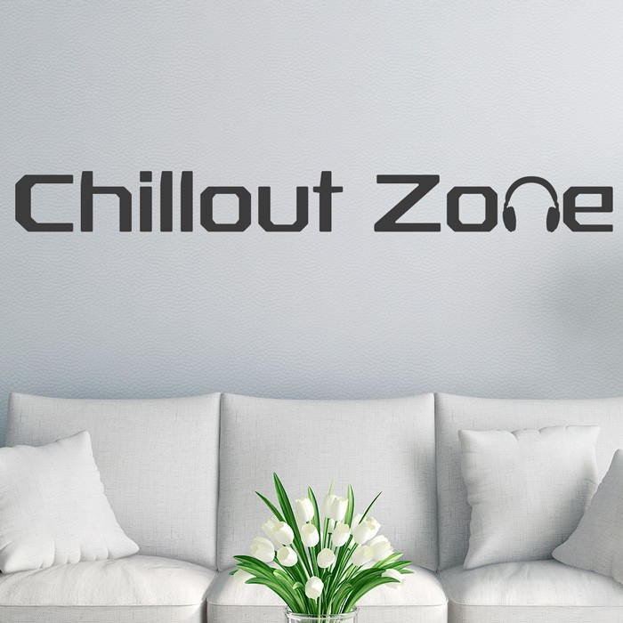 wandtattoo spruch chillout zone. Black Bedroom Furniture Sets. Home Design Ideas