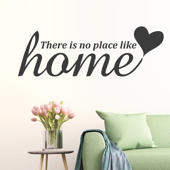 wandtattoo spruch there is no place like home. Black Bedroom Furniture Sets. Home Design Ideas