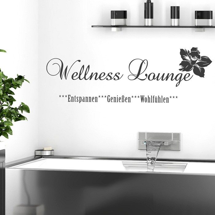 Wandtattoo spruch wellness lounge - Wandtattoo wellness ...