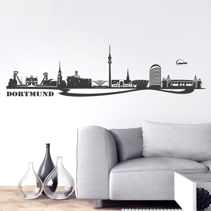 wandtattoo skyline dortmund. Black Bedroom Furniture Sets. Home Design Ideas