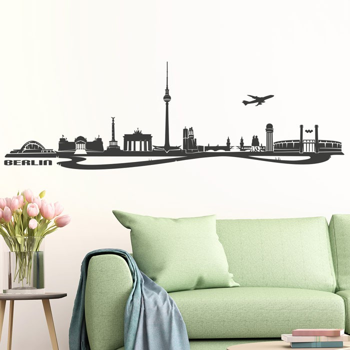wandtattoo skyline berlin. Black Bedroom Furniture Sets. Home Design Ideas