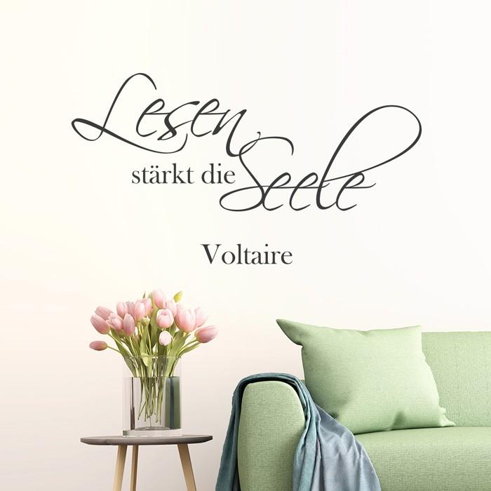 wandtattoo zitat lesen st rkt die seele. Black Bedroom Furniture Sets. Home Design Ideas