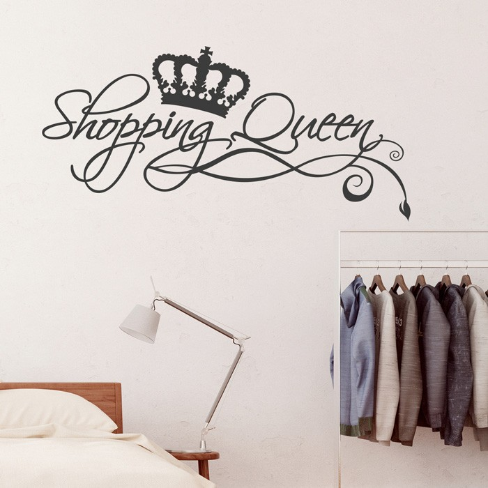 Wandtattoo Spruch Shopping Queen