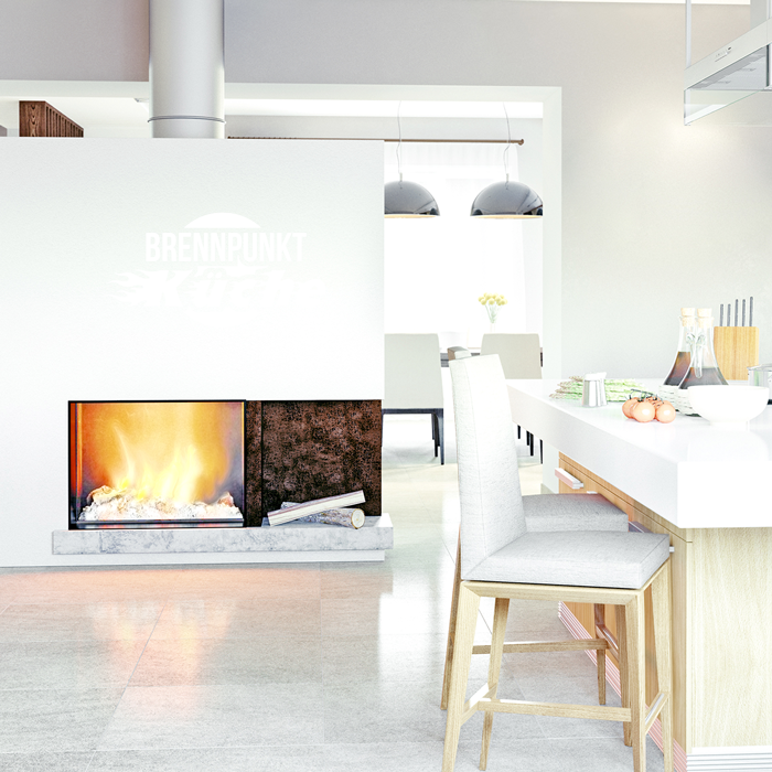 wandtattoo spruch brennpunkt k che. Black Bedroom Furniture Sets. Home Design Ideas