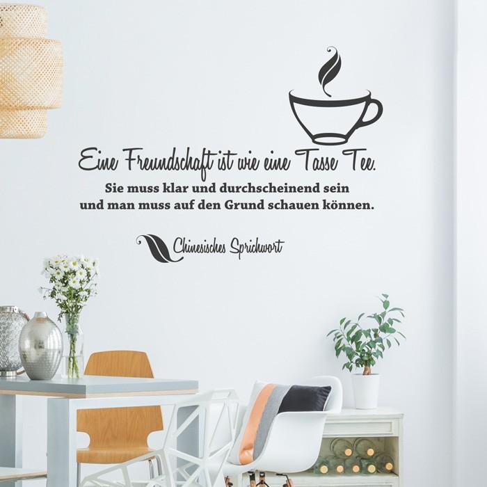 Wandtattoo Spruch   Eine Freundschaft Ist Wie Eine Tasse Tee .
