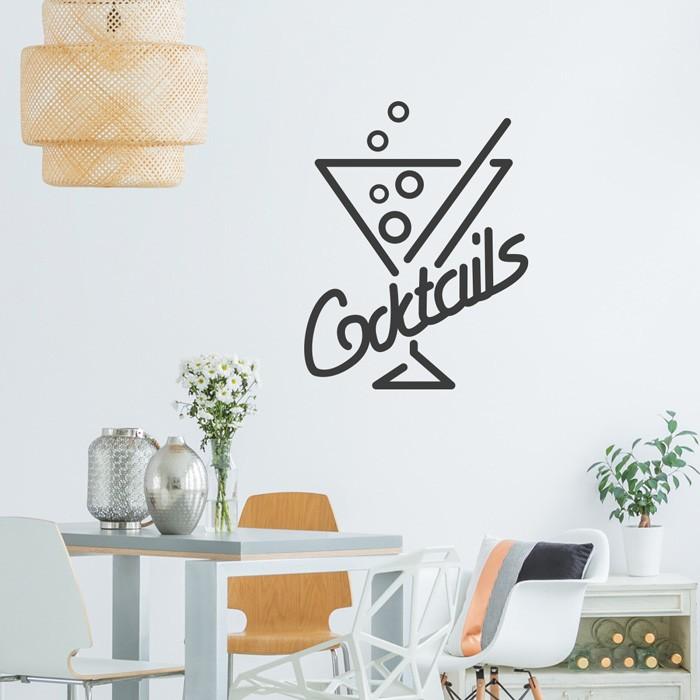 wandtattoo spruch cocktails. Black Bedroom Furniture Sets. Home Design Ideas