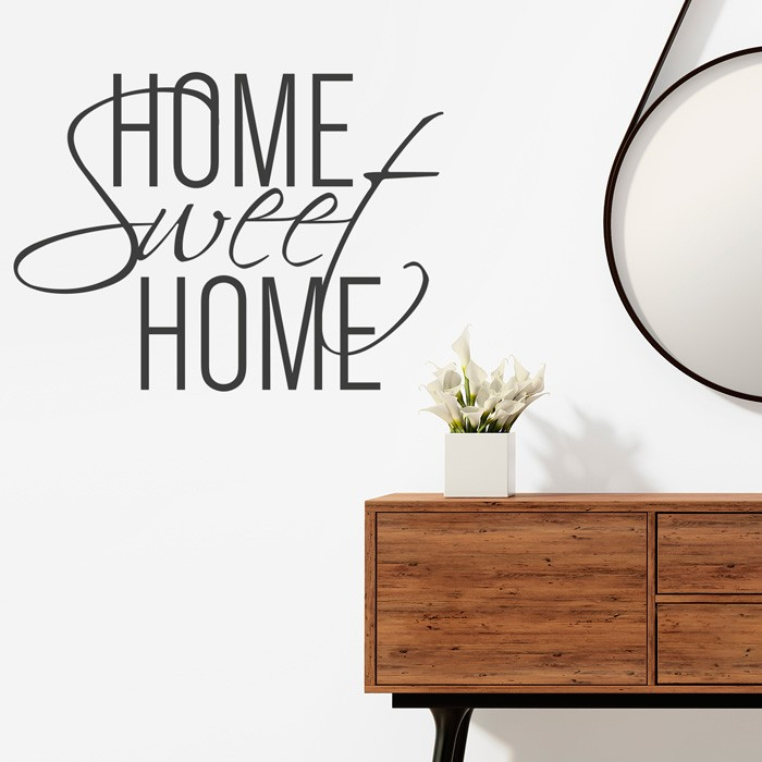 wandtattoo spruch home sweet home no 4. Black Bedroom Furniture Sets. Home Design Ideas