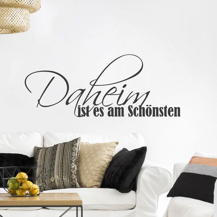 wandtattoo spruch daheim ist es am sch nsten. Black Bedroom Furniture Sets. Home Design Ideas