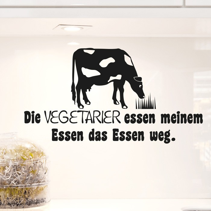 Wandtattoo Spruch Vegetarier Essen Meinem Essen Das Essen Weg