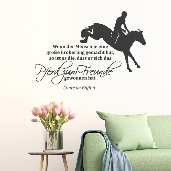Wandtattoo Zitat   Wenn der Mensch  Pferd zum Freunde