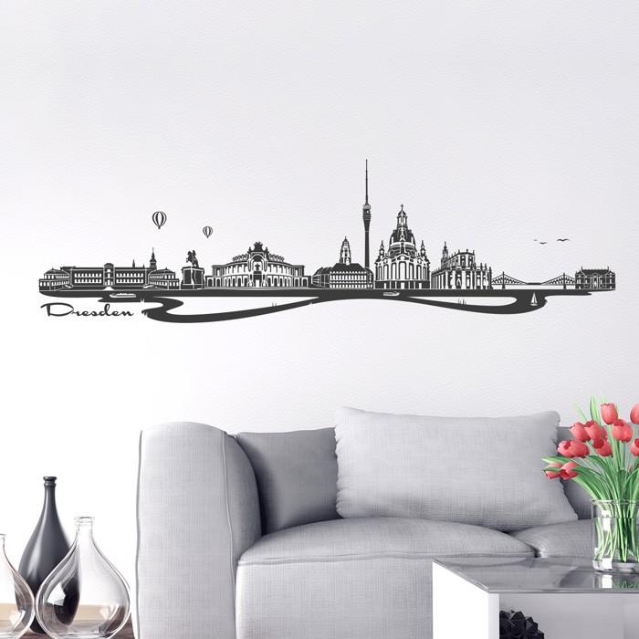 wandtattoo skyline dresden. Black Bedroom Furniture Sets. Home Design Ideas