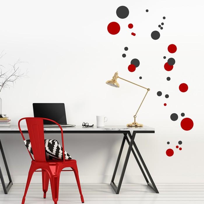 wandtattoo set punkte. Black Bedroom Furniture Sets. Home Design Ideas