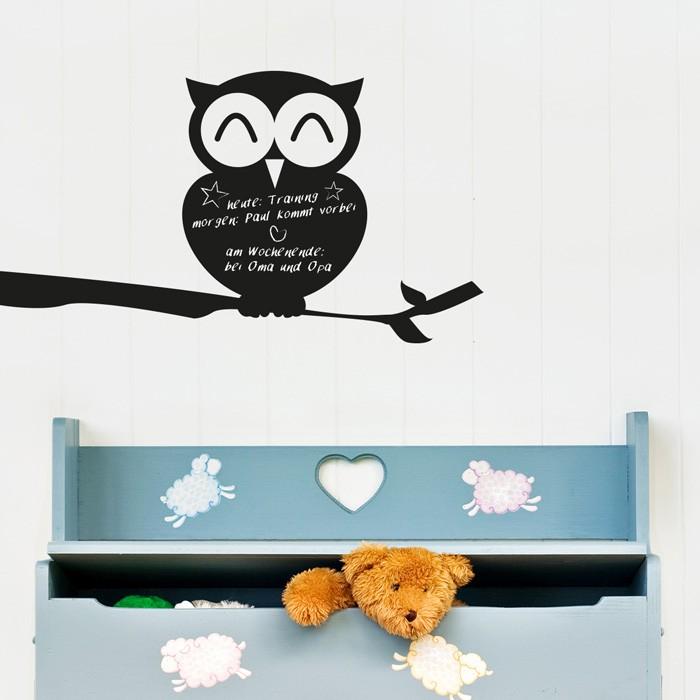 tafelfolie eule auf ast. Black Bedroom Furniture Sets. Home Design Ideas