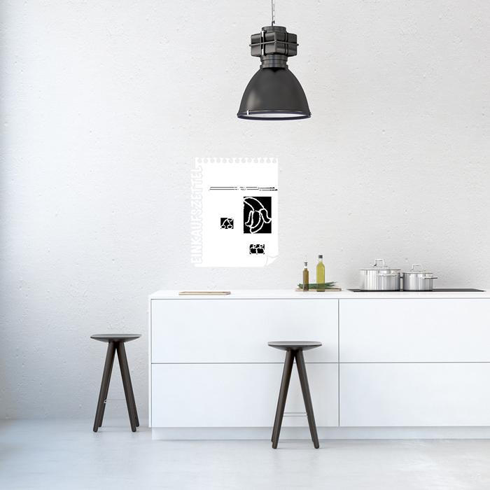 tafelfolie einkaufszettel. Black Bedroom Furniture Sets. Home Design Ideas