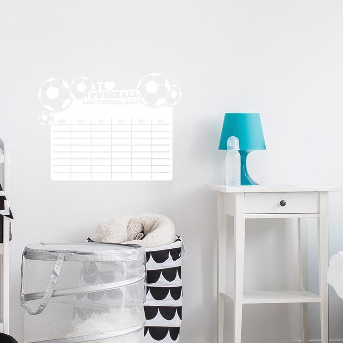 tafelfolie stundenplan fu ball. Black Bedroom Furniture Sets. Home Design Ideas