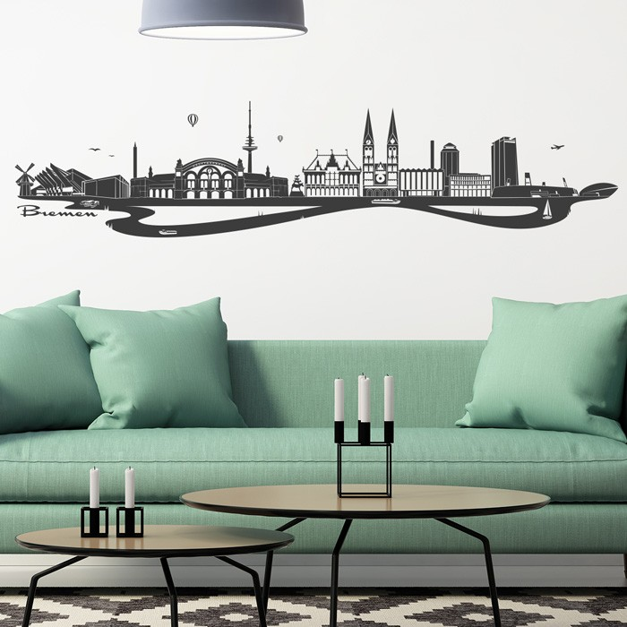wandtattoo skyline bremen. Black Bedroom Furniture Sets. Home Design Ideas