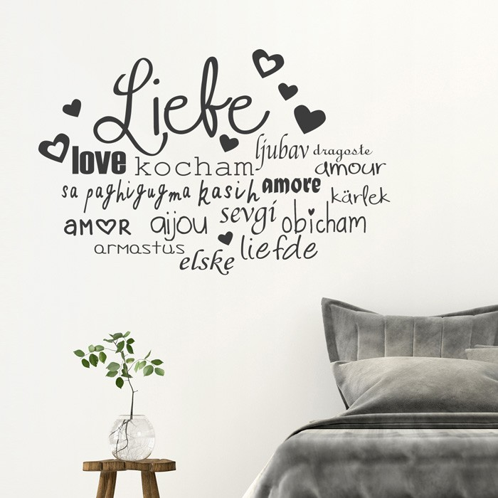 Wandtattoo Spruch Liebe In Vielen Sprachen