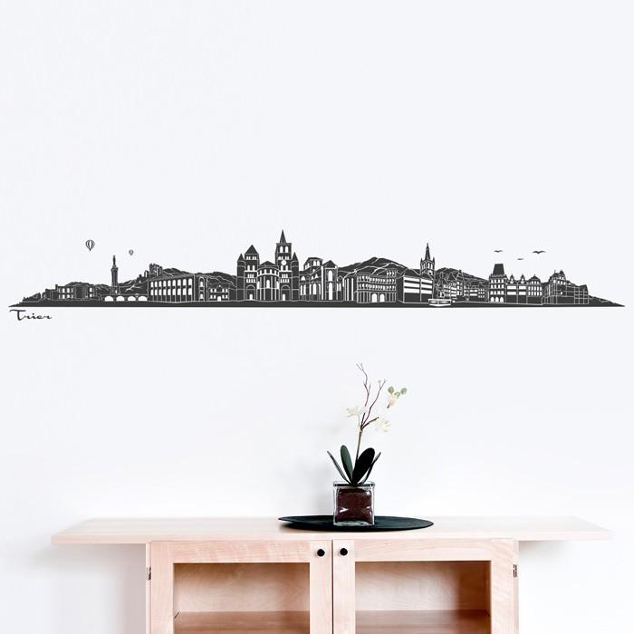 wandtattoo skyline trier ohne fluss. Black Bedroom Furniture Sets. Home Design Ideas