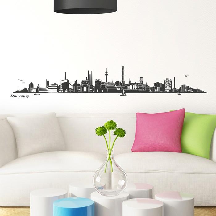 wandtattoo skyline duisburg. Black Bedroom Furniture Sets. Home Design Ideas