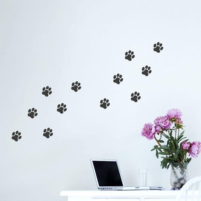 Wandtattoo A4 Set Hundepfoten