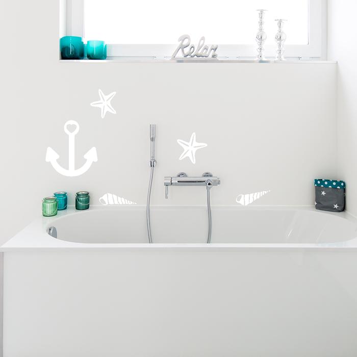 wandtattoo a4 set maritim. Black Bedroom Furniture Sets. Home Design Ideas