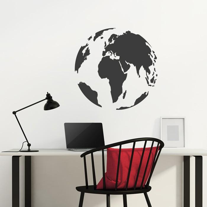 Den globus als wandtattoo bestellen for Wandtattoo bestellen