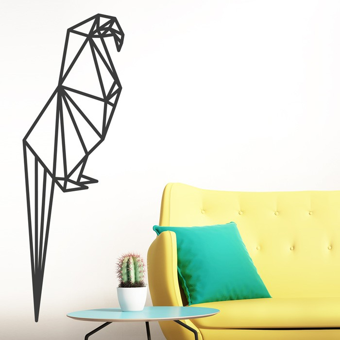 Wandtattoo origami papagei - Wandtattoo papagei ...